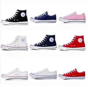NOUVELLE étoile Haute qualité Classique Low-Top High-Top toile Casual chaussures sneaker Hommes / Femmes chaussures en toile Taille EU35-45 retai dropshipping