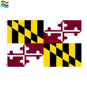 GoodFlag-freies Verschiffen Maryland-Flaggengrafik kennzeichnet Fahne 3X5 FT 90 * 150CM Polyster-Flagge im Freien