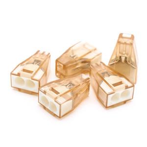10PCS / Empuje LOT en alambre cableado de conectores para Cajas de conexiones 2pin conductor bloque de terminales PCT-602/773 a 602