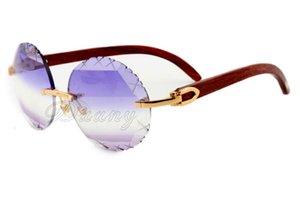 New várias cores Pattern Carving Lens, Moda Rodada Retro alta qualidade Carving Sunglasses 3524012-A Arm Madeira Natural, Tamanho: 56-18-135mm