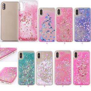 Heart Love Liquid Case For Iphone XS MAX XR X 8 Plus 7 6 5 Hard Plastic+TPU Quicksand Floating Glitter Sparkle Magical Dynamic Powder Cover