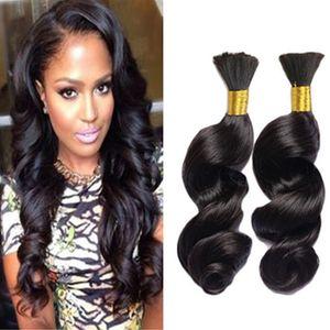 Cheveux en vrac non transformé humaine en vrac Malaisie Tressage des cheveux en vrac vague Hair Style En stock Expédition rapide