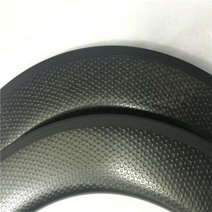최고 판매 전체 탄소 도로 자전거 윤활유 50mm 보조개 탄소 바퀴 현무암 표면 25mm U 모양 자전거 세라믹 베어링과 dimpled 바퀴