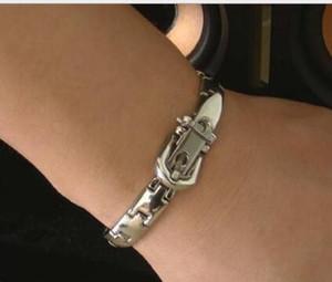 Health Care Magnet-Armband-Armband Intarsien 16 Natural Bio-magnetische Quantum Energy Stahlarmband Statement Schmuck Weihnachtsgeschenk