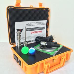 2016 pelicano E D elétrica dab kits de unhas de titânio bong titeless Gr2 unhas PID TC digital dabber caixa dab ferramenta carb cap