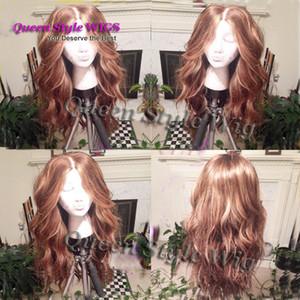 No Need Cut Lace Perücke natürliche lose Locken Hand gewebte tiefe Parted Kopfhaut Sonnenstein blonde Farbe Haar Perücken für weiße Frauen