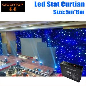 Freeshipping 5 M * 6 M led stella panno scenografia Ordine Personalizzato LED Fondali Schermo Cortina Pixel Passo Personalizzato 5mm RGB a colori