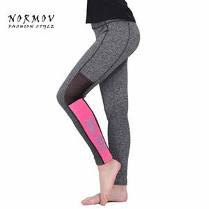 Leggings Moda Workout Feminina Atacado-S-XL Leggings Mulheres Sportswear cintura alta de Inverno Grey Leggings Mulheres