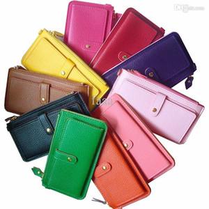 Yeni Sıcak satış moda 11 çeşitli renkler bayan çanta ve bilek kayışı tasarımı ile cüzdanlar (WX03)
