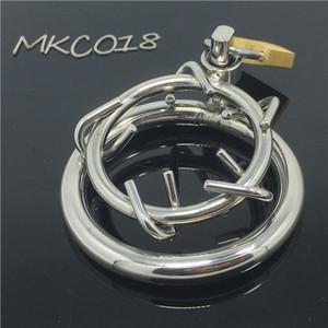 Raycity мужской целомудрие устройство корона из терна нержавеющая сталь бондаж мужской целомудрие кольцо Gimp фетиш горячие гей секс игрушки для мужчин БДСМ MKC018