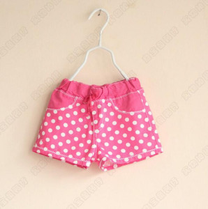 New Girls Baby Cotton Wave point shorts girls hot pants Wholesale