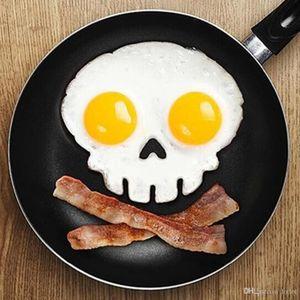 Silicone crâne squelette humain moule à œufs sur le plat de crêpe anneau shaper outils de cuisine gadgets de cuisine oeufs au plat