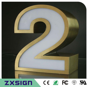 20cm high Outdoor acrylic led house number, 8
