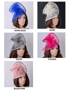 NEW two sides special shape sinamay fascinator hat with Feathers for Kentucky derby,wedding,church,races,party