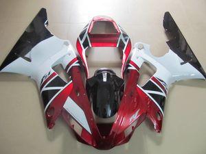 ABS пластик обтекатель комплект для Yamaha YZF R1 2000 2001 вино красный белый обтекатели комплект YZFR1 00 01 OT17