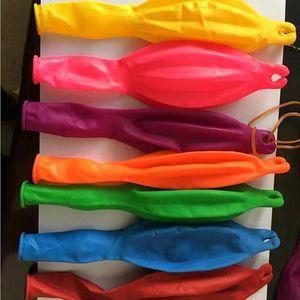 Palloncini elastici di punzone Rimbalzare Palloncino galleggiante Festa di Natale Giocattoli Giochi Giocattolo colorato in lattice Materiale Spedizione gratuita DH7