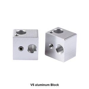 Freeshipping 100 шт./лот 3D принтер аксессуары все металлические нагревательный блок горячего конца 3D V5 черный алюминиевый процесс окисления 16 х 16 х 12 мм