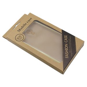 25 teile / los Telefon Fall Paket Box Für iPhone 7/6 Fall Verpackung Display Kraftpapier Handy Shell Fenster Pack Box W / Hang Hole