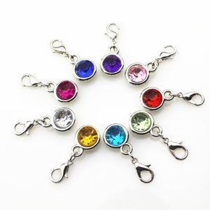 100pcs / lot mescolano i colori casuali i fascini di cristallo di CCB pendono i fascini d'attaccatura accessori del pendente della collana del braccialetto di DIY Charms galleggianti