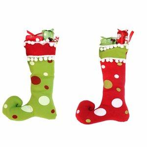 Yeni Tasarım 2 Adet / grup Yeni Yıl Merry Christmas Hediyeler Yüksek Entegrasyon Çizmeler Süslemeleri Noel Çorap Noel El Sanatları