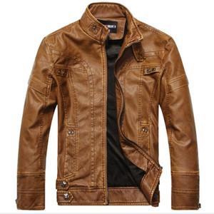 Vente en gros- Nouvelle arrivée en cuir moto vestes hommes hommes en cuir veste jaqueta de couro masculina hommes en cuir vestes hommes manteaux H327