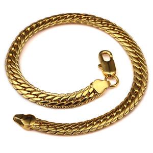 Nouvelle déclaration Bracelet unisexe Hip Hop Bijoux Matel Bracelet en or plaqué argent Lien chaîne pour femmes des hommes élégant