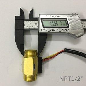 """Al por mayor- NPT 1/2 """"1 ~ 30L / MIN interruptor de medidor de sensor de flujo de agua de efecto Hall"""