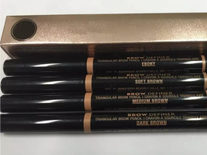 MAQUILLAJE Lápiz de doble ceja BROW PENCL CRAYON EBONY / SOFT BROWN / DARK BROWN / MEDIUM BROWN / chocolate DHL Envío gratis