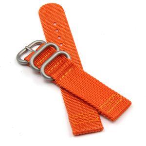 Kaki orange en nylon de haute qualité Bracelets montres anneau Bracelets NATO pour Rolex 20 mm 22 mm 24 mm Livraison gratuite de / Lot