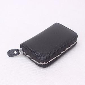 2017 venda quente! Mens / Womens Genuine Leather Case Cartão De Crédito Titular do Cartão de Banco de Negócios Organizador Bolsa De Couro Mini saco de Dinheiro