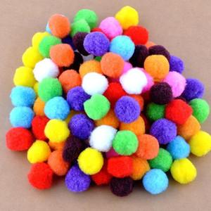 الجملة-شحن shipping-100pcs / الكثير صغير متعدد الألوان diy الديكور الكرة 20 ملليمتر الفراء الكرة أضاليا ديكور المنزل ديكور الزهور الحرف K01445