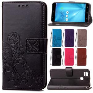 Бумажник чехлы для ASUS Zenfone 3 Zoom ZE553KL ZE 553KL повезло четыре листа накатки с слот для карты Магнит пряжка ремешок