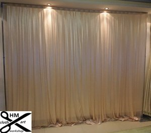 3M high*6M wide black backcloth or colorful draps Background Satin Drape wall valance customized backdrop