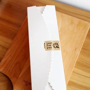 Frete grátis breve papel kraft branco macaron caixa lua bolo biscoito caixas de cozimento pacote de sobremesa artesanal favores
