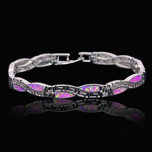 En gros Au Détail De Mode Fine Bracelet D'opale De Feu 925 Sterling Sliver Bijoux Pour Les Femmes BNT170824001