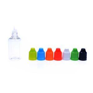 2017 новый 1000 шт. 5 мл 10 мл 20 мл 50 мл пустой E жидкое масло пластиковые капельницы бутылки с ребенком доказательство крышки бутылки иглы советы