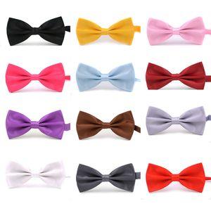 50 개 / 몫 새로운 공식적인 상업 나비 넥타이 남성 단색 결혼 나비 넥타이 캔디 컬러 나비 Cravat 나비 넥타이 나비