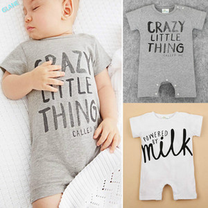 Wholesale- Newborn Kids Baby Girl Infant Short Sleeve Cotton Romper Jumpsuit Bodysuit Clothes Outfit Newborn Baby Boy Girl Clothes
