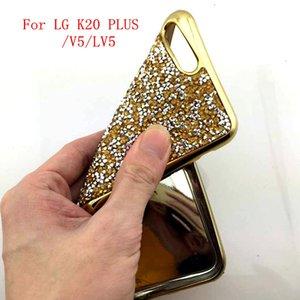 LG lv5 için / K10 2017 / K20 artı MetroPCS LG'nin kalemi 3 Stylo 3 PLUS Aristo V3 LV3 MS210 Glitter TPU Cass