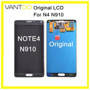 Für samsung galaxy note4 n910 original lcd display mit touchscreen digitizer assembly ersatzteile ersatz kostenloser dhl