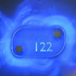 아크릴 판 무료 DHL 배송을 위해 설정 아크릴 화이트 레드 블루 그린 라이트 2 개 /를위한 LED 스탠드 오프 로그인 홀더