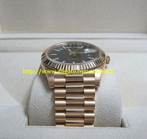 store361 новое прибытие часы высокое качество автоматические мужские часы новый день дата 228238 40 мм желтое золото 18 карат черный диагональ мотив циферблат часы