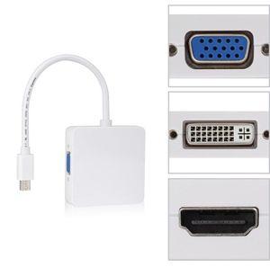 NEU 3 in1 Thunderbolt Mini Displayport DP auf HDMI DVI VGA Adapter Display Port Kabel für Apple MacBook Pro Mac Book Air