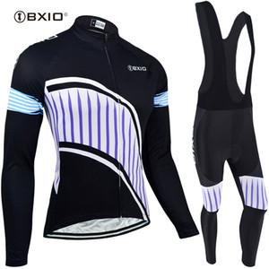 BXIO Marca jerseys de ciclo largo determinado de la manga ropa de la bicicleta otoño invierno Bicicletas Pro Team Clothes Ropa Ciclismo Invierno BX-116