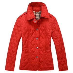 Alta qualidade novas mulheres acolchoado outerwear senhora outono inverno roupas terno gola xadrez casual marca jaqueta