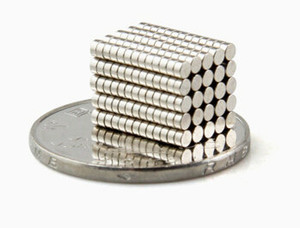 """Diametro disco magnetico NdFeB 1 confezione 2x1 mm Magneti al neodimio magneti di precisione da 0,08 """"Sensori magnetici Tinny Earth N42 NiCuNi"""