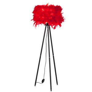 White LED optional feather floor light lamp With brandreth trippod leg standing foyer living bedroom floor table light lamp