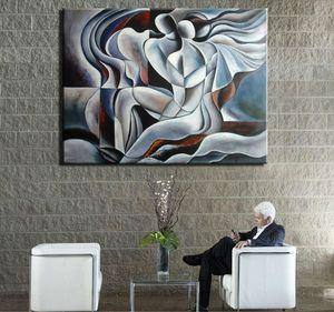Eingerahmt Reine Hand bemalt kann moderne abstrakten Porträt-Kunst-Ölgemälde-Liebhaber, Haus-Wand-Dekor auf hochwertige Leinwand Größe angepasst werden