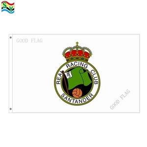 GoodFlag Frete Grátis Real Racing Club de Santander bandeiras bandeira 3X5 FT 90 * 150 CM Polyster Ao Ar Livre bandeira