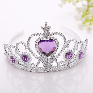 Dondurulmuş çocuk Taç Prenses saç headdress kafa hoop çember plastik değnek aksesuarları toptan